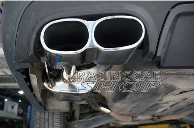 S65 AMG STYLE CHROME QUAD EXHAUST MUFFLER TIPS PIP 1PAIR for Mercedes Benz W221 S-Class M114W 1