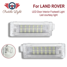 2x 18smd LED Door Interior Footwell Light Led courtesy light CAR Styling For LAND ROVER Evoque Range Rover 4 Sprot Freelander2