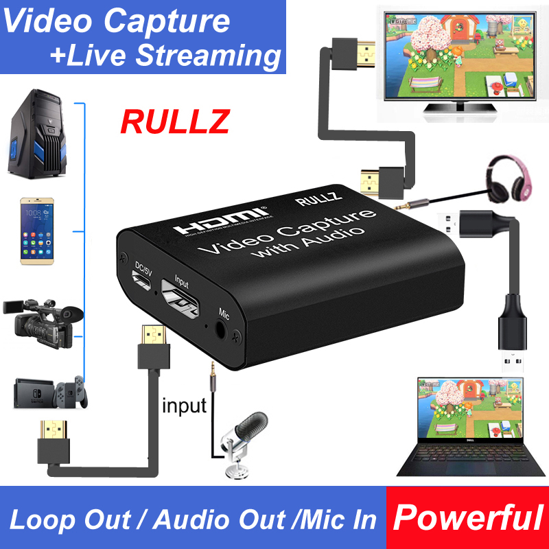 HD 1080P 4K HDMI Video Capture Card HDMI To USB 2.0 3.0 Video Capture Board Game Record Live Streaming Broadcast TV Local Loop 4