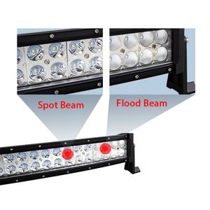 Image 5 - 22 32 42 50 52นิ้วโค้งLed Light Bar 120W 180W 240W 288W 300W COMBO Dual RowขับรถOffroadรถบรรทุก4X4 SUV ATV