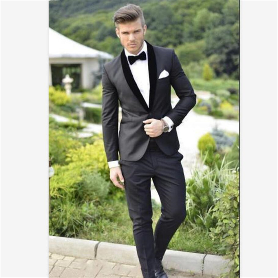 New Men's Suit Smolking Noivo Terno Slim Fit Easculino Evening Suits For Men Party Blazer Groom Tuxedos Costume Homme(jacket+pan