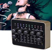 Mixer Microphone Computer Audio Mobile Phone Headset USB Port Singing 3D Adjustable External KTV Live Broadcast Sound Card