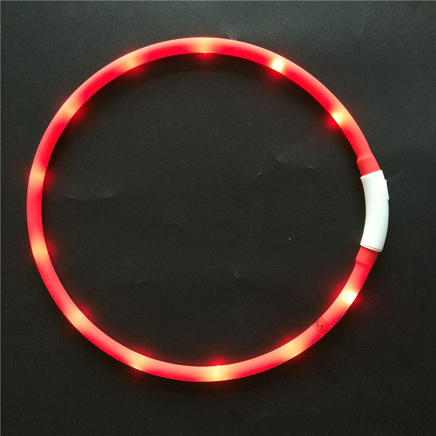 LED Shining Silica Gel Neck Ring Exquisite Silica Gel Pet Luminous Collar USB Charging Dog Night Light Neck Ring