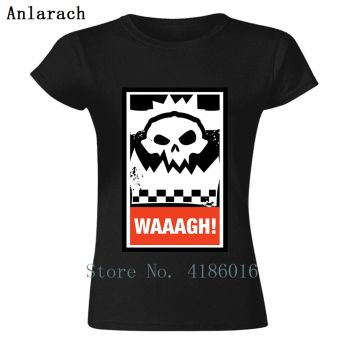 Cheap Sale Waaagh! Orks Greenskins T-Shirt For Basic Solid Women T Shirt For O Neck Fitness Tee Shirt Mand image