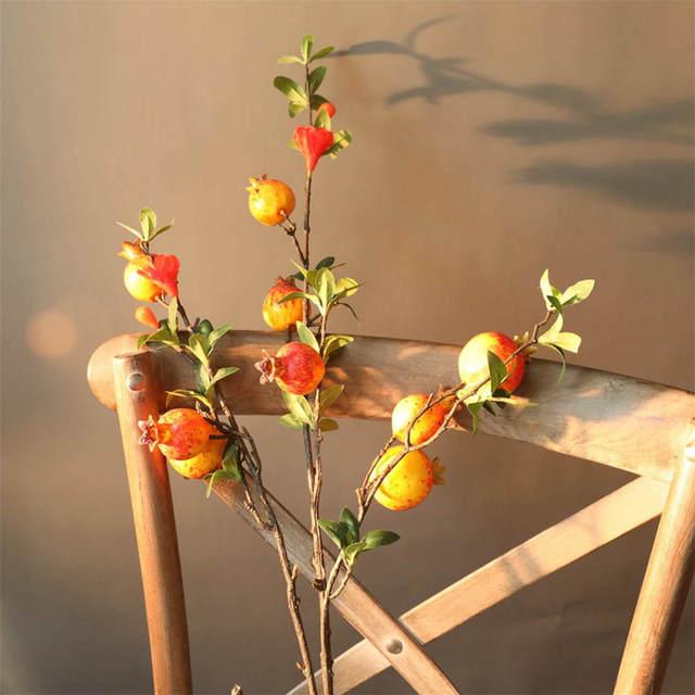 Faux grenat fruits grenade baies Bouquet fleur jardin décor à la maison fleurs artificielles maison chambre décor fleur plante