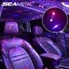 5 trybów nastrojowe światła w samochodzie USB akumulatorowa lampa otoczenia ze zdalnym wielokolorowym przenośnym oświetlenie dekoracyjne do Auto Home