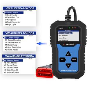 Image 5 - NEUE! KONNWEI KW350 OBD2 Auto Scanner Code Reader Scanner OBD2 Auto diagnose Tool für AUDI/SEAT/SKODA/VW golf Obd2 Auto Werkzeug 8980