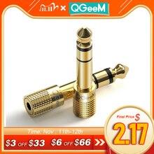 Qgeemジャック6.5 6.35ミリメートル雄プラグに3.5ミリメートルメスコネクタヘッドホンアンプオーディオアダプターaux 6.3 3.5ミリメートルconverte