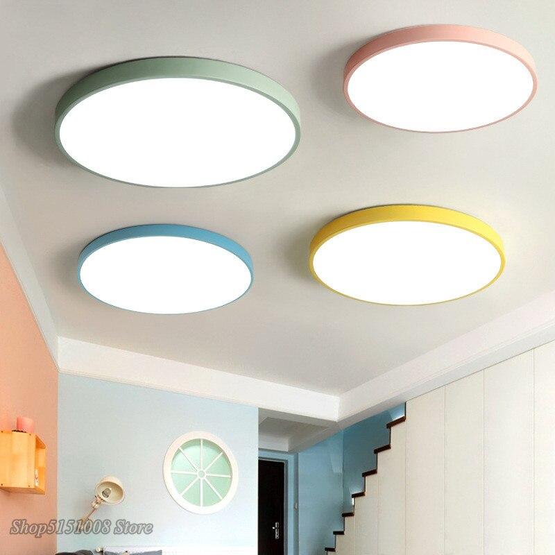 Nordic Runde LED Acryl Decke Lichter Moderne Macarons Luminaria Led-deckenleuchte für Wohnzimmer Kinder Zimmer Gang Wohnkultur