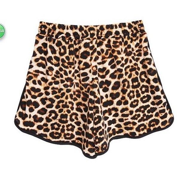 Leopard Lace Up High Waist Cotton  Beach Shorts 6