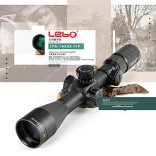 Tactial LEBO TP 4-14X44FFP Hunting Riflescope With Red Dot First Focal Plane Optics Lens With 11 or 20MM Mount Black Rifle Scope vector optics rogue 2 6x32 aoe hunting riflescope with 25mm mount ring sunshade flipup cap