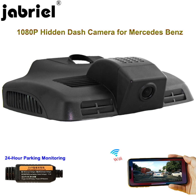 Jabriel Hidden 1080P Car Camera dash cam 24 Hour Recorder Rear Camera for mercedes benz e300 e200 e320 e250 <font><b>e220d</b></font> W211 W212 W21 image