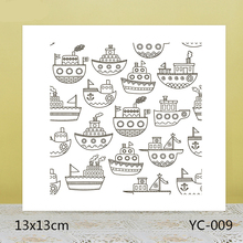 ZhuoAng Cartoon Cargo Ship Clear Stamps For DIY Scrapbooking/Card Making/Album Decorative Silicon Stamp Crafts