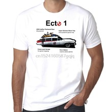 Ghostbusters Ecto 1 leichenwagen infographic retro 1980s mens t-shirt(China)