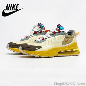 Nike Air Max 270 Ria Ripple Jaka Men's Half Palm Cushion Wild Sports Jogging Shoes CD0113-001 недорого