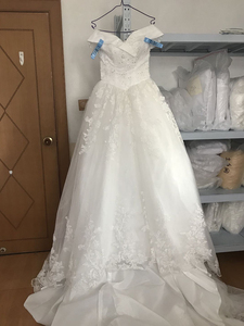Image 5 - Fansmile Luxury Long Train Vestido De Noiva Lace Wedding Dress 2020 Customized Plus Size Wedding Gowns Bridal Dress FSM 491T