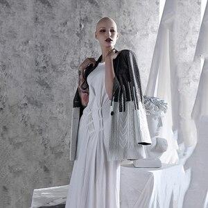 Image 5 - [Eam] solto ajuste contraste cor solto ajuste camisola jaqueta nova lapela manga longa casaco feminino moda maré primavera outono 2020 1a308