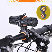 Buy Bicycle Light Bracket Bike Lamp Holder Pump Stand bike equipment Quick Release Mount 360 Degree Rotatable save