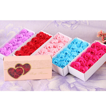 10Pcs Scented Bath Body Petal Rose Flower Soap  Romantic Flavor Wedding Decoration Gift Best For Girl Wife Mom