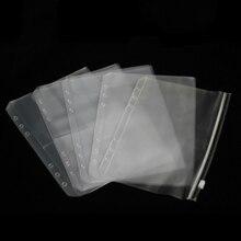 Сумка на молнии с отрывным листом A5 A6 A7 B5 A4 прозрачная сумка для хранения банкнот визитная карточка карман вкладыш руководство аксессуары для учетной записи