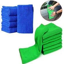 Чистое сухое квадратное полотенце для волос, голубое, зеленое, 25x25 см, полотенце для детского сада, полотенце для активного отдыха