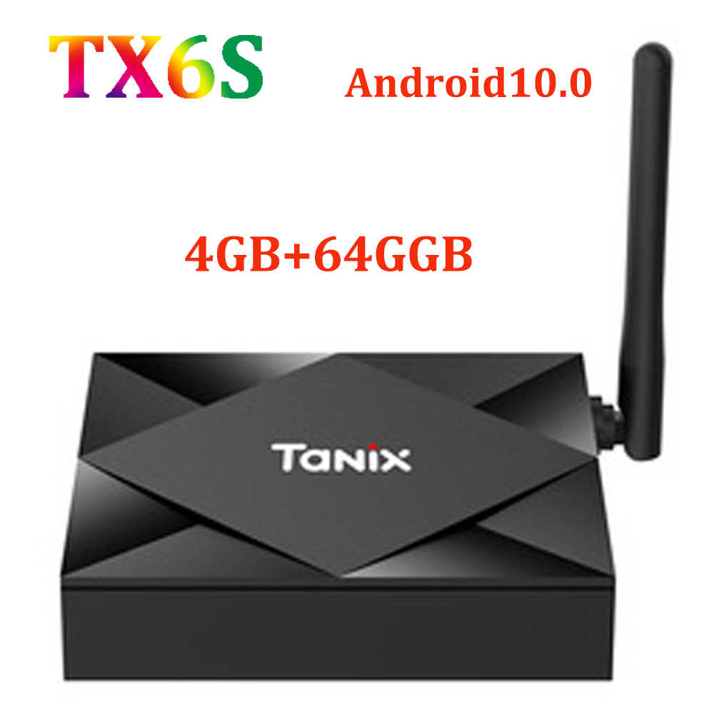 TANIX TX6Sสมาร์ทAndroid 10.0 TV Box 4GB RAM 32GB ROM 64GB ALLWINNER H616 WiFi Media Player 4K 6K HD 2GB 8GBชุดกล่องด้านบนTX6S