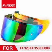 Visières LS2 pour casque de moto FF320 Stream FF353 Rapid FF328 FF800, lentille supplémentaire de remplacement originale, noir Iridium argent