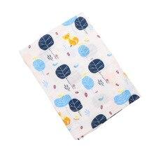 Baby Muslin Blankets Dinosaur Unicorn Animal Print Multi-use Newborn Swaddles 100% Cotton Infant Gauze Bath Towel Baby Warp