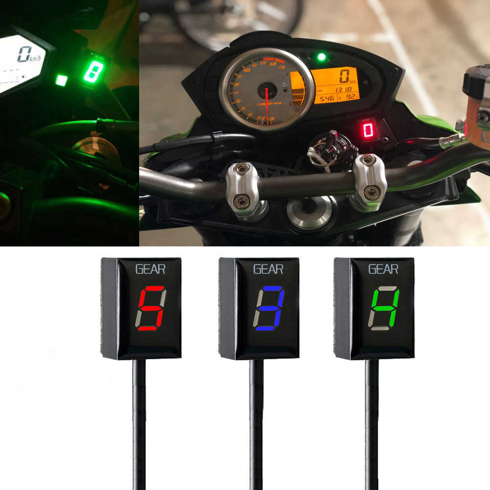 Motorfiets Ecu Direct Mount 1-6 Speed Gear Display Indicator Voor Kawasaki ER6N Ninja 650 Ninja 300 Z750 Z900 z800 Zx6R Vulcan S