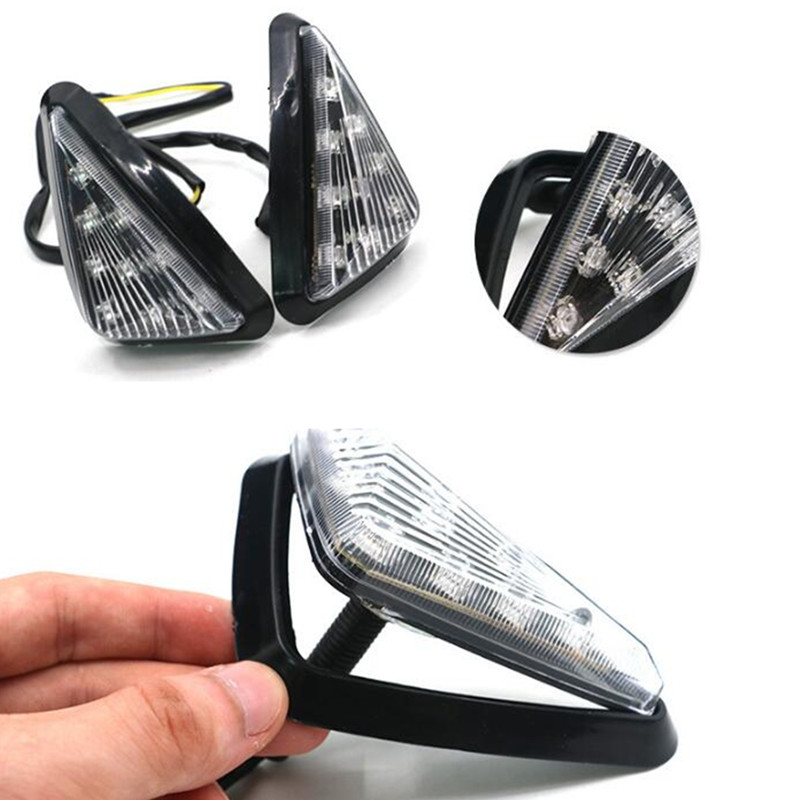 Adeeing Turning Light For Motorcycle Smoke Triangle Flush Mount LED Waterproof Easy Installation Turn Signals Blinker R20