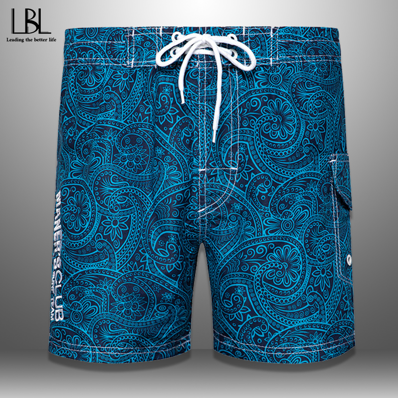 Summer Beach Shorts Men 2020 Swimwear Surf Boardshorts Male Floral Print Swimming Breathable Casual Mens Shorts Quick Drying 4XL