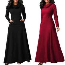 Женское платье с длинным рукавом Элегантное Длинное большого
