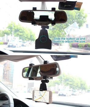 1Pcs Car Holder Rearview Mirror DVR Driving Video Recorder Mount Holder Car Accessories 360 degrees adjustable phone GPS bracket image