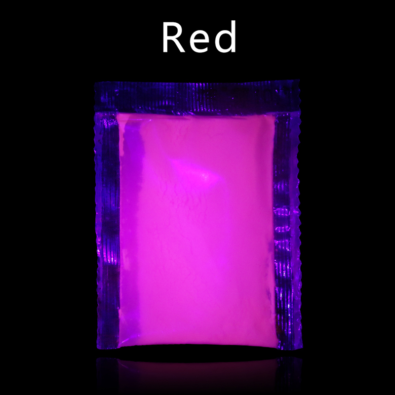 Glow In The Dark Fluorescent Powder Paint For Art Crafts Party Nail Decoration 10g Red Phosphor Pigment Luminous Paint Powder