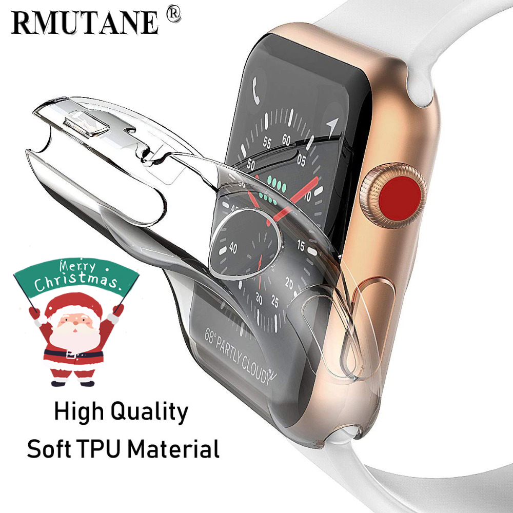 Soft Cover Case For Apple Watch 5 4 3 Band Apple Watch Case  44mm/40mm 42mm/38mm Iwatch Band All-around Ultra-thin Clear Frame