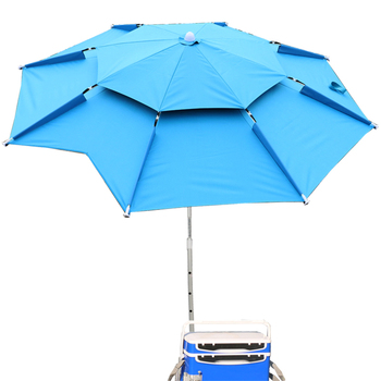 1.8-2m 360° Outdoor Beach Camping Fishing Umbrella Fold Sun Protection Anti UV Sunshade Umbrella Waterproof Awning Rain Umbrella 2