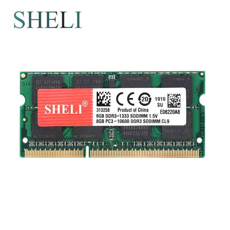 SHELI 8GB <font><b>PC3</b></font>-<font><b>10600</b></font> <font><b>DDR3</b></font> 1333MHz SODIMM Memory RAM for APPLE MacBook Pro iMac Mac mini image
