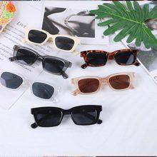 Gafas de sol rectangulares de Estilo Vintage para mujer, anteojos de sol femeninos de marca de diseñador, con puntos Retro, cuadradas, con ojos de gato, 2021