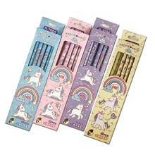 Pencil Eraser Rainbow School Cute Office-Supply Unicorn Plastic with Set for Kid Automatic-Pen