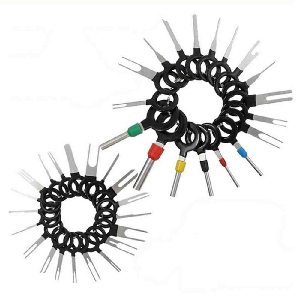 41 stücke Auto Terminal Entfernung Kit Verdrahtung Crimp Stecker Pin Extractor Puller Automotive Terminal Reparatur Professional Tools , CSV