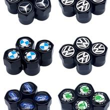 Колпачки для воздушных клапанов автомобильных колес, колпачки для стержней с логотипом бренда для Renault, Audi, Vw, Fiat, Hyundai, Honda, Mazda, Opel, Ford, Skoda, Saab