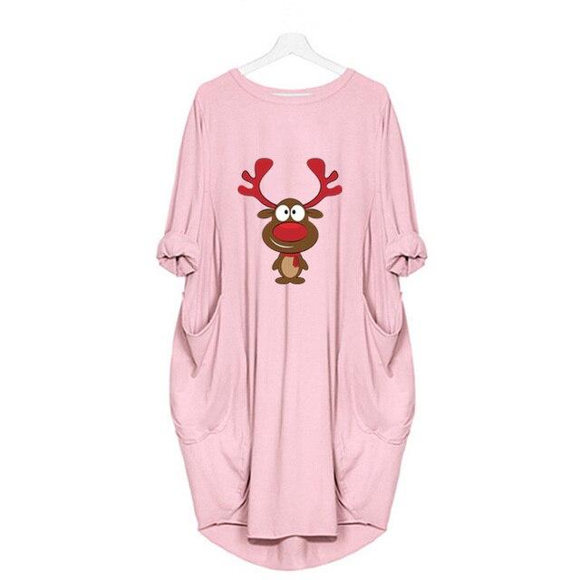 женское винтажное платье миди с принтом оленей и карманами фотография