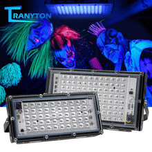 Reflector de Led UV impermeable, lámpara ultravioleta, 2835 Chips, 50Led, 96Led, 50W, 100W, con interruptor, 395nm, 400nm