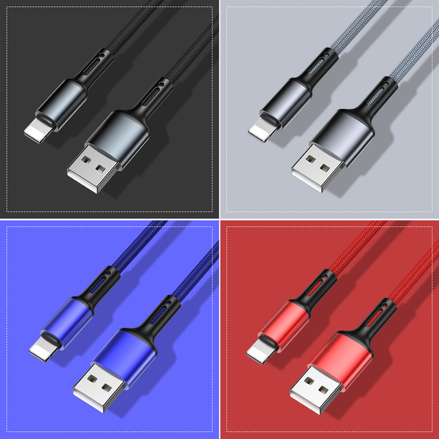 3A Fast Charging USB Charger Cable For iPhone 12 11 Pro X XR XS Max 6 6s 7 8 Plus 5s SE 2020 iPad Origin Data Cord Long Line 3m 6