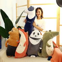 Forest animals series fox,panda bear plush toy very soft cotton doll baby toy throw pillow birthday gift h1374