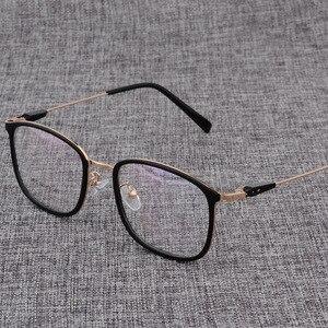 Image 5 - سبيكة النظارات الإطار الرجال أو النساء خفيفة مربع قصر النظر وصفة طبية النظارات الذكور المعادن إطار بصري نظارات D825