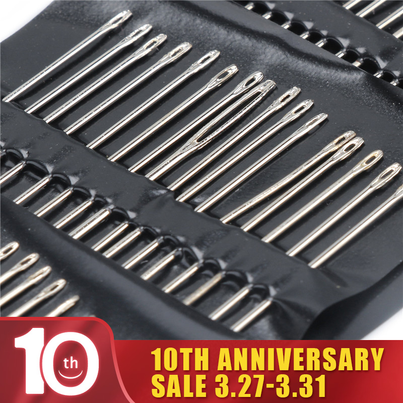 55PCS/set Useful Metal Silver Stainless Steel Sewing Needles Sewing Pins Set Home DIY Crafts Hand Tools