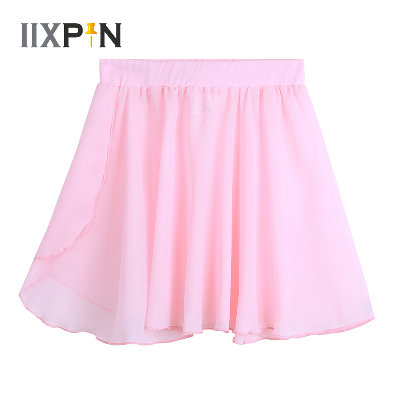 Kids Girls Ballet Skirt Dance Basic Classic Chiffon Mini Pull-On Wrap Skirt Ballerina Dress Kids Tutu Ballet Leotard Dress Teens