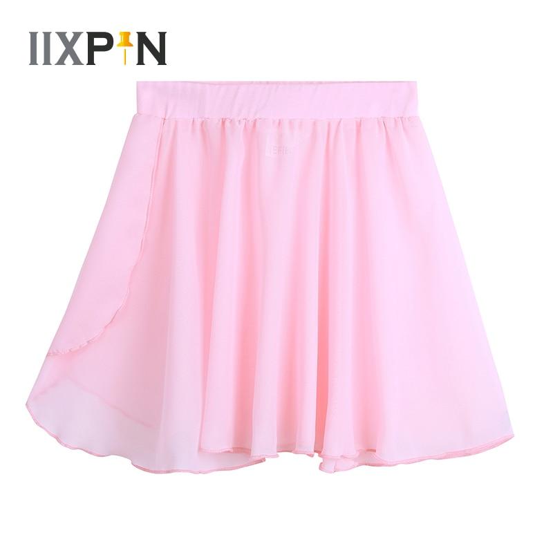 Kids Girls Ballet Skirt Dance Basic Classic Chiffon Mini Pull-On Wrap Skirt Ballerina Dress Kids Tutu Ballet Leotard Dress Teens