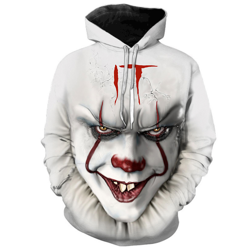 New Horror Movie Clown Hoodie 3d Sweatshirt Plus Size S-6XL Sportswear Sportswear Men's and Women's Neutral Pullover Asian Size image